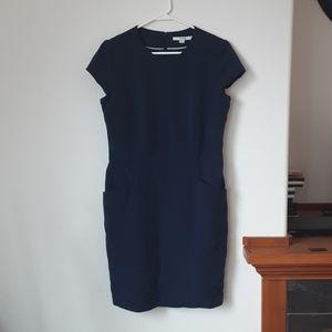 Boden navy dress size 10 r pockets